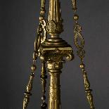 Lustre aux dragons en bronze et verre, XIXe-3