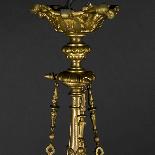 Lustre aux dragons en bronze et verre, XIXe-2