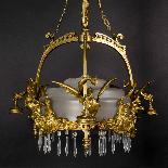 Lustre aux dragons en bronze et verre, XIXe-4