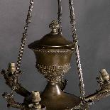 Lustre de style empire en bronze, XIXe-2