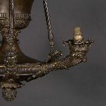 Lustre de style empire en bronze, XIXe-4