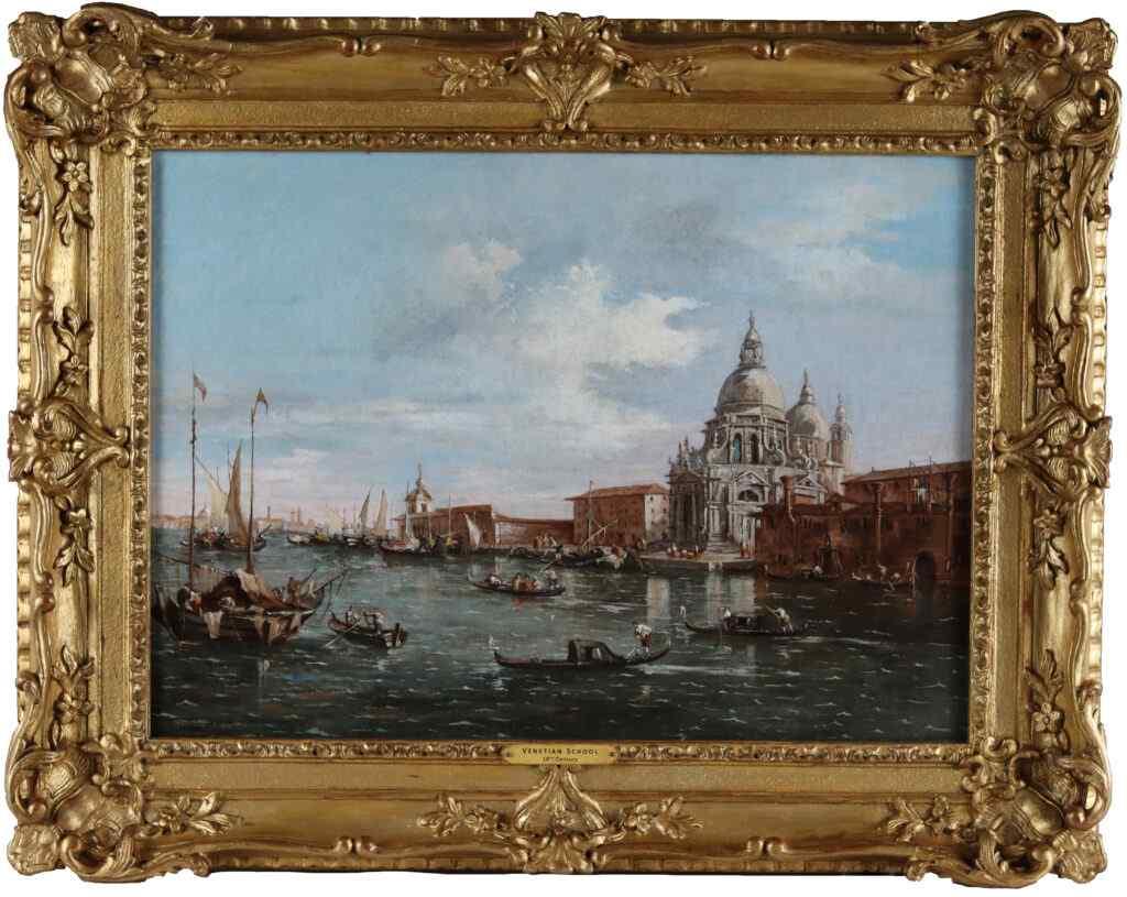 Scene del canale veneziano, una coppia