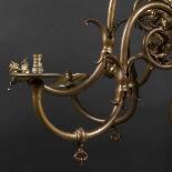 Lustre Hollandais en bronze à patine brune, XIXe-3