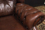 Poltrona Chesterfield bergere in pelle Springvale marrone-5