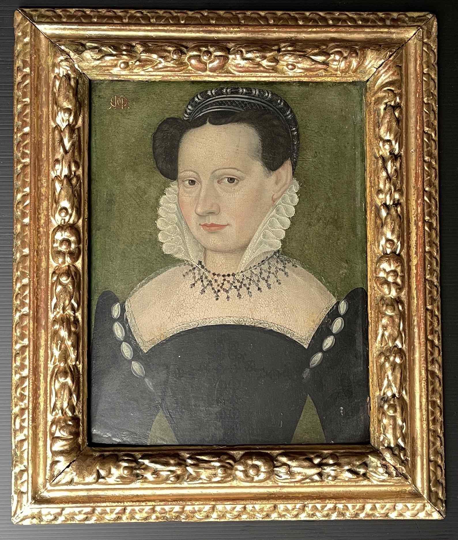 François Quesnel 1543-1616 seguace di Ritratto di dama con c