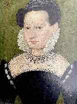 François Quesnel 1543-1616 seguace di Ritratto di dama con c-0