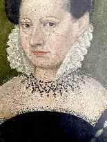 François Quesnel 1543-1616 seguace di Ritratto di dama con c-1