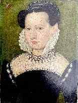 François Quesnel 1543-1616 seguace di Ritratto di dama con c-4