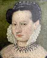François Quesnel 1543-1616 seguace di Ritratto di dama con c-5
