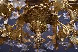 19e s. lustre floral en bronze doré-0