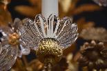 19e s. lustre floral en bronze doré-3
