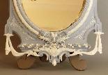 Specchio da tavolo grande biscotto XIX secolo-2