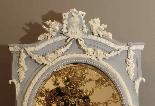 Specchio da tavolo grande biscotto XIX secolo-3