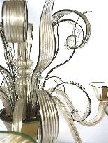 Lustre en verre de Murano à six lumières-1