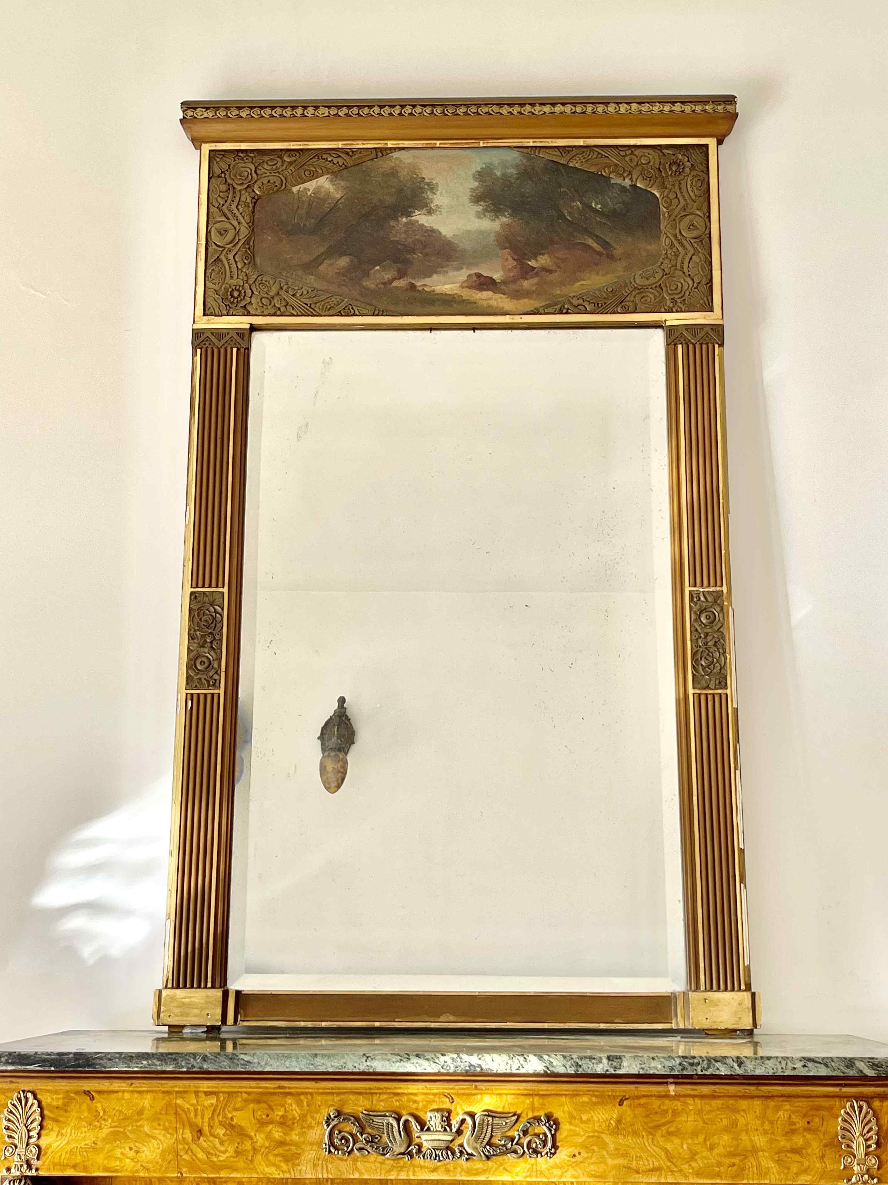 Specchio art déco / ghiaccio / trumeau