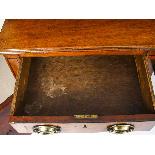 Antique George III Mahogany and Line Inlaid Sideboard-4