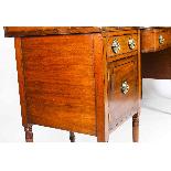 Antique George III Mahogany and Line Inlaid Sideboard-8