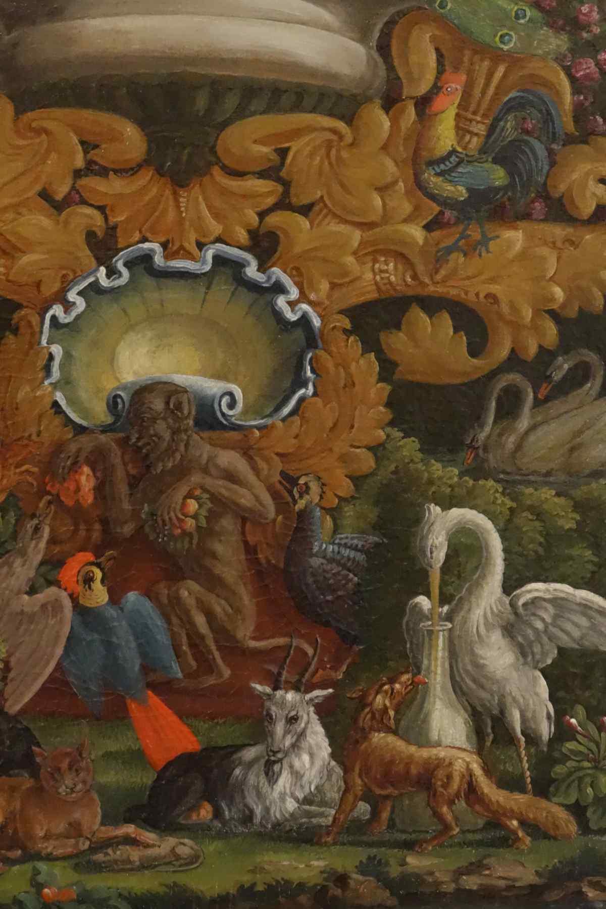 Folie Aux Fables De La Fontaine 2ème moitié XVIIIème