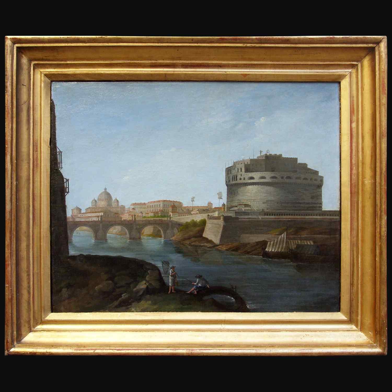 Veduta di Castel Sant'Angelo dell'Ottocento