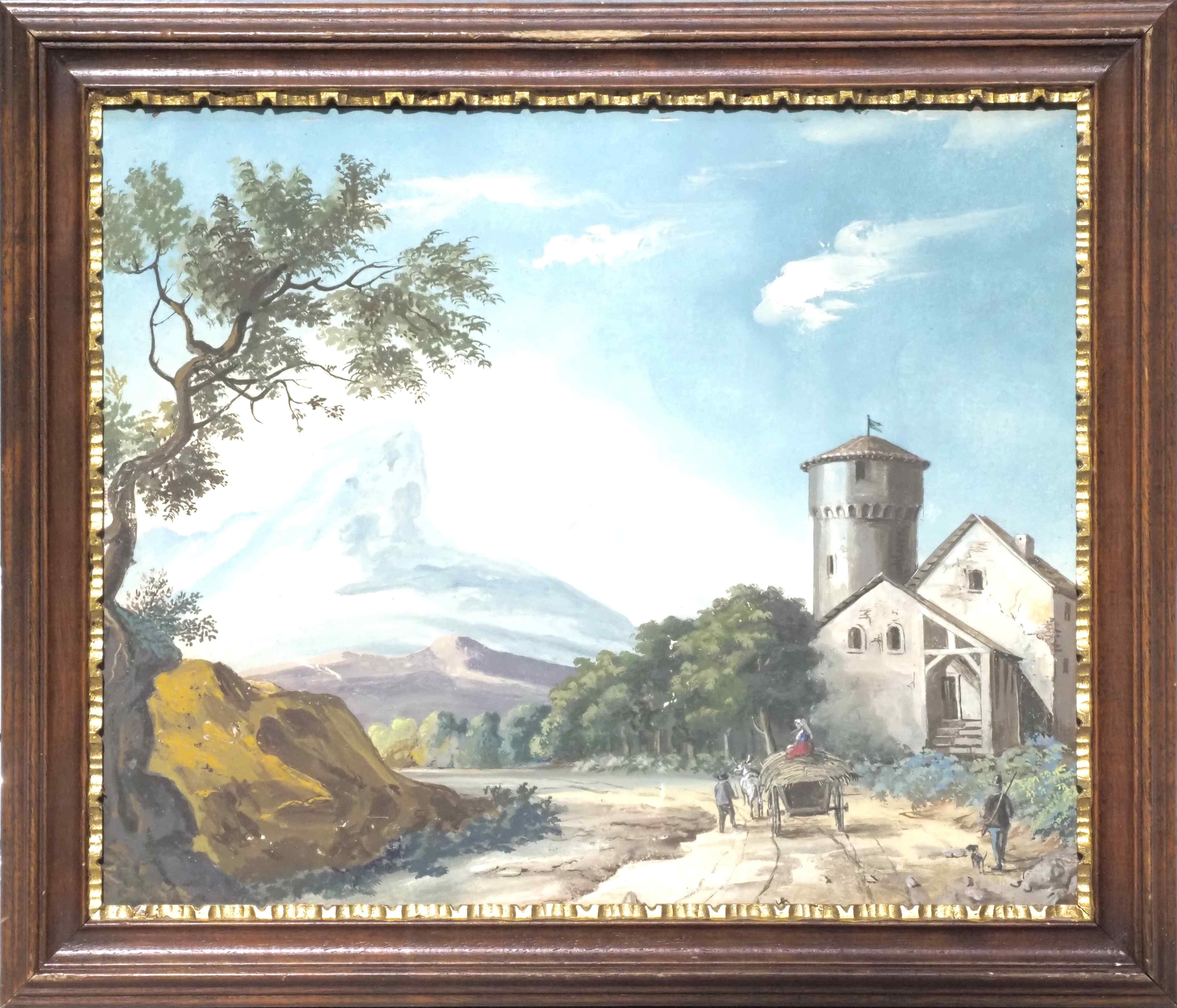 Quattro dipinti raffiguranti Paesaggi di montagna