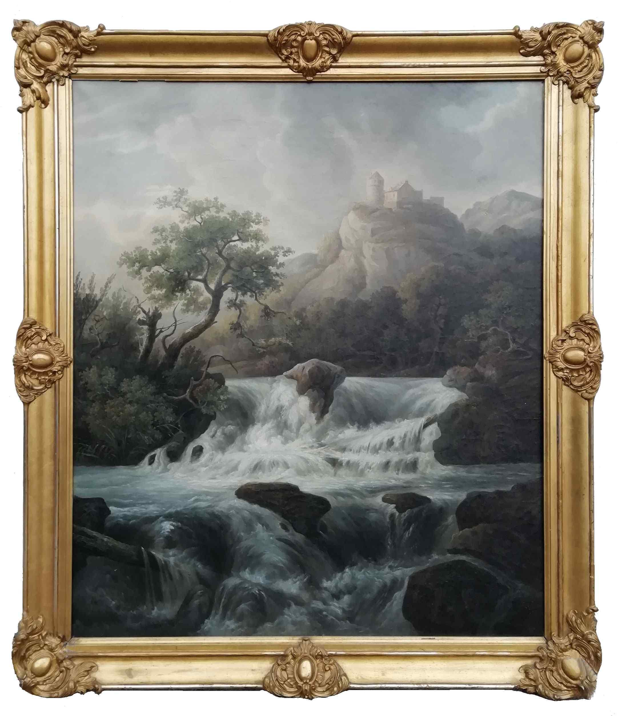 Dipinto raffigurante Paesaggio con cascata
