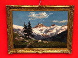Dipinto Raffigurante Montagne Innevate Leonardo Roda-0