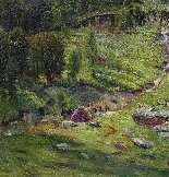 XIX SIÈCLE, PAYSAGE ALPIN, HUILE SUR TOILE, 122 X 156-0