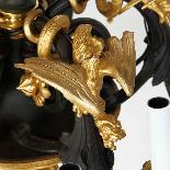 Lustre aux cinq dragons en bronze à double patine, XIXe-4