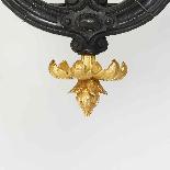 Lustre aux cinq dragons en bronze à double patine, XIXe-9