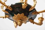 Lustre Empire en bronze laqué vert-1