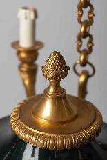 Lustre Empire en bronze laqué vert-5