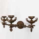 Coppia di applique in bronzo, XIX secolo-1