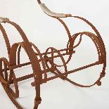 Sedia a dondolo in ferro battuto del XIX secolo-8