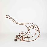 Sedia a dondolo in ferro battuto del XIX secolo-3