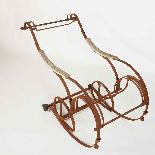Sedia a dondolo in ferro battuto del XIX secolo-5