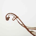 Sedia a dondolo in ferro battuto del XIX secolo-6