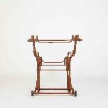 Sedia a dondolo in ferro battuto del XIX secolo-2