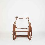 Sedia a dondolo in ferro battuto del XIX secolo-4