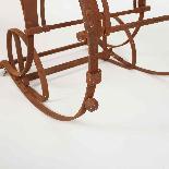 Sedia a dondolo in ferro battuto del XIX secolo-9