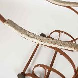 Sedia a dondolo in ferro battuto del XIX secolo-7
