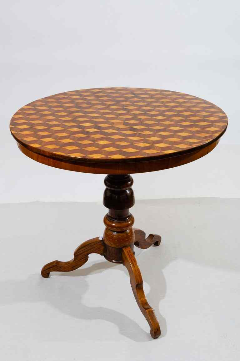 Tavolino intarsiato Rolo