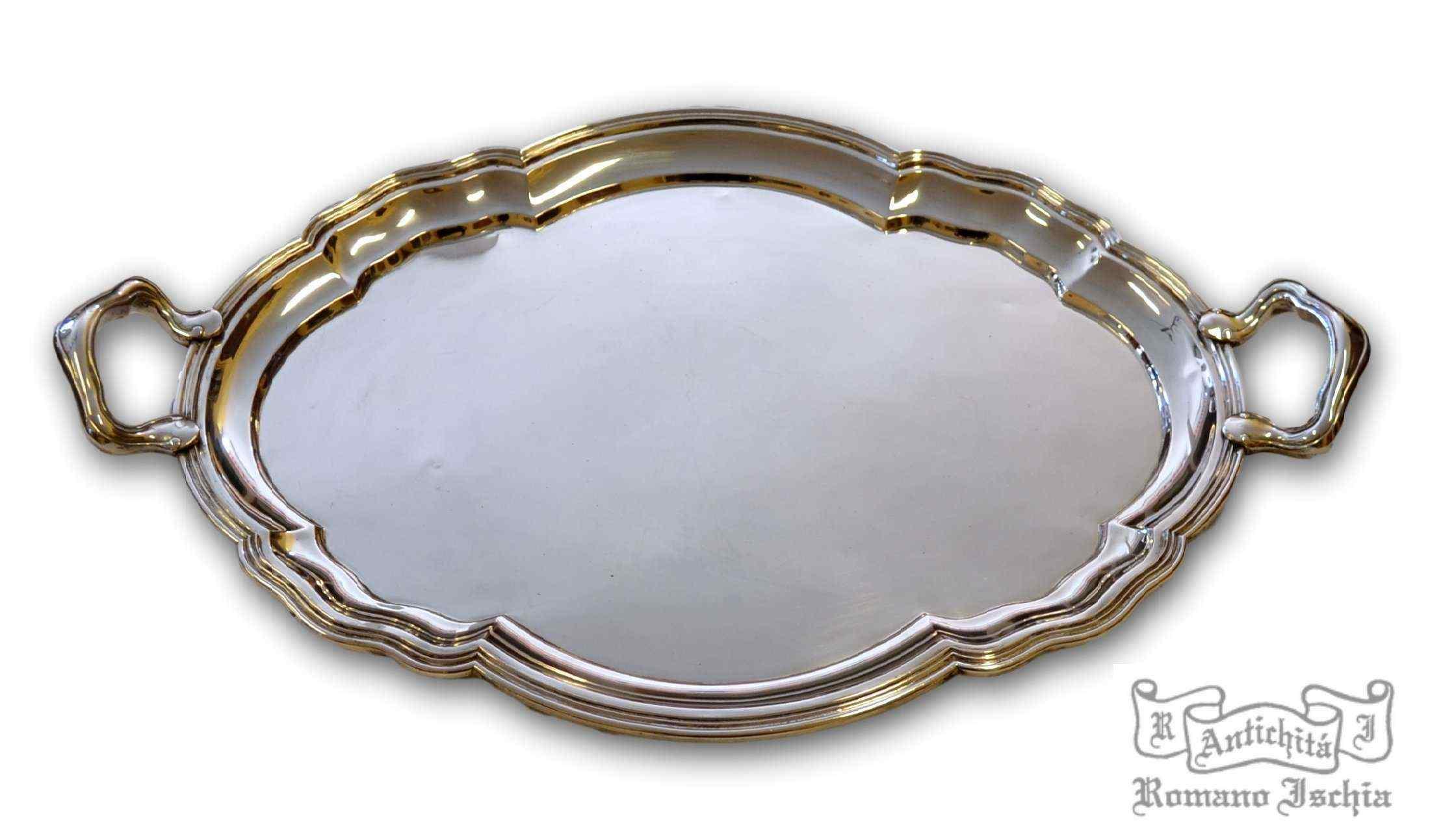 Grande Vassoio in argento 800/°°°, Italia (Milano), XIX sec.
