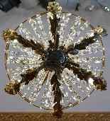 Lustre Attribué à Jansen En Bronze Et Laiton Doré-3