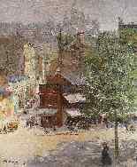 Veduta di Montmartre di Abel Truchet Belle Epoque-0
