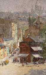 Veduta di Montmartre di Abel Truchet Belle Epoque-3