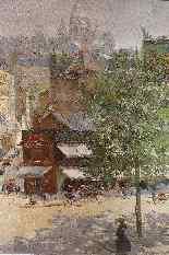 Veduta di Montmartre di Abel Truchet Belle Epoque-7