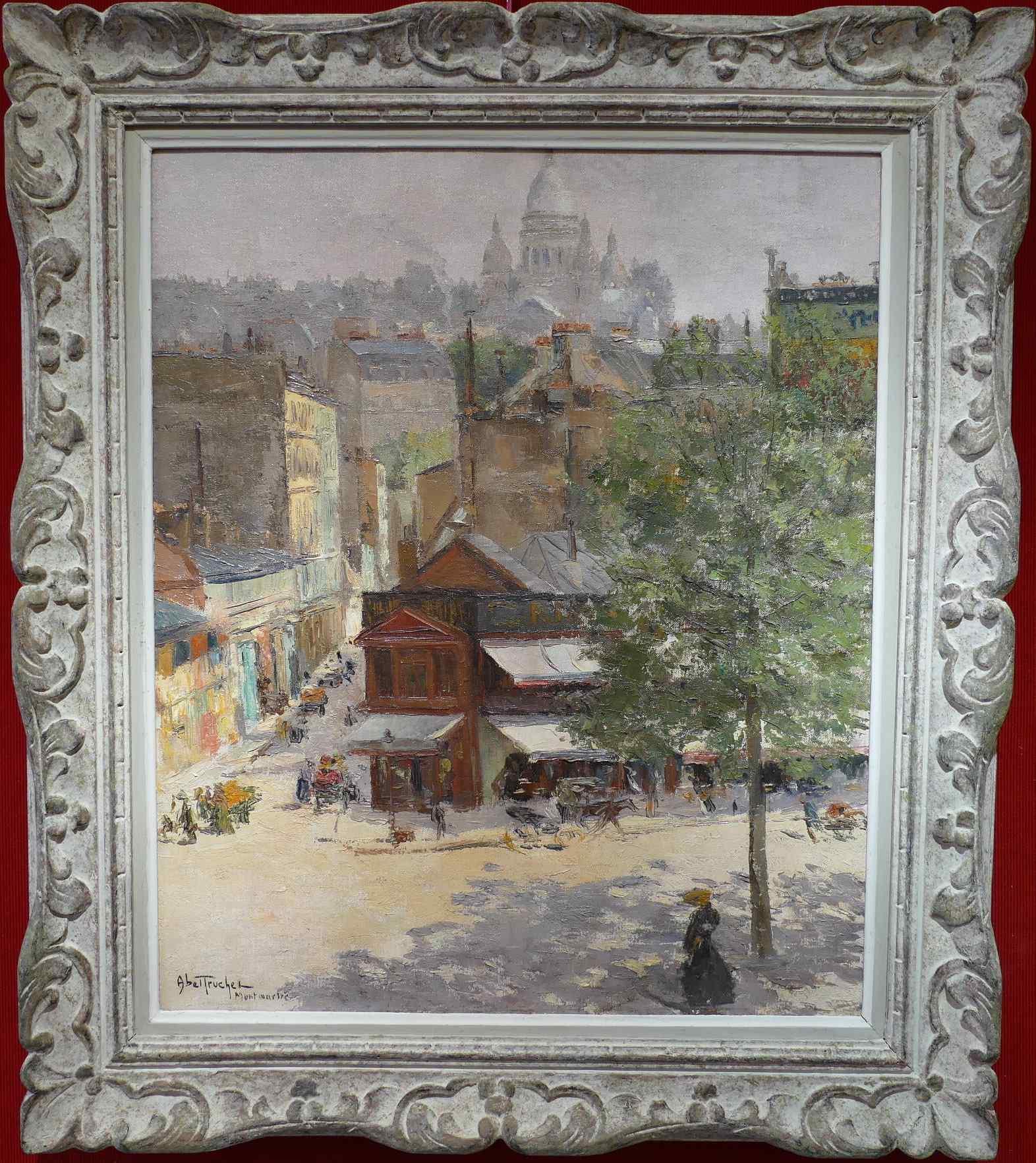 Veduta di Montmartre di Abel Truchet Belle Epoque