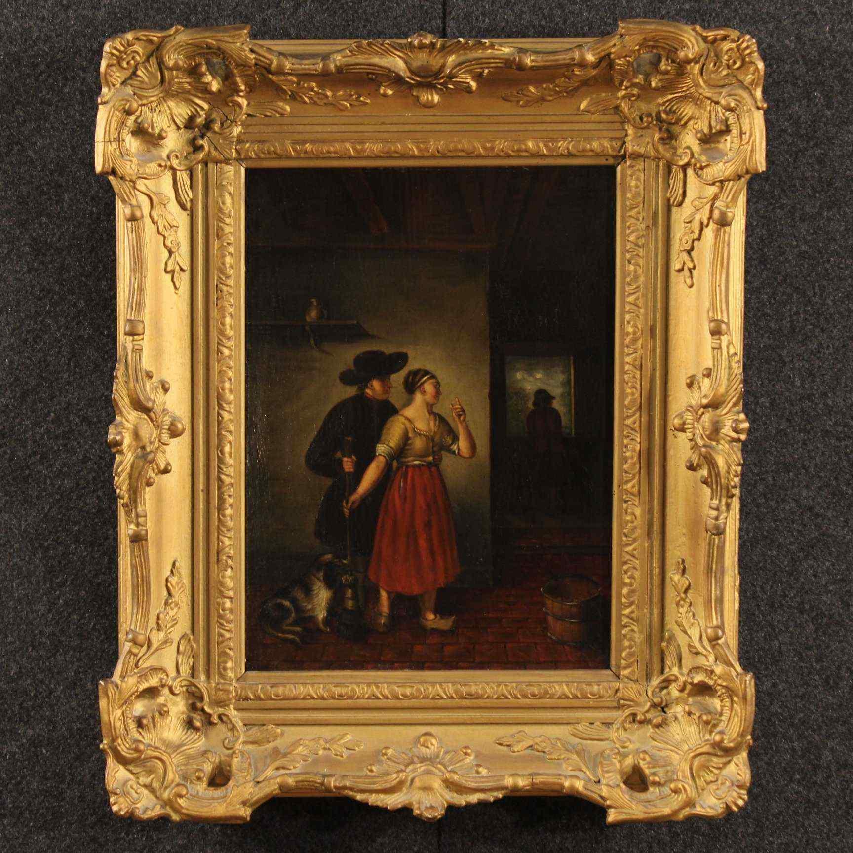 Peinture hollandaise huile sur panneau du 19 me si cle for Decoration 19eme siecle