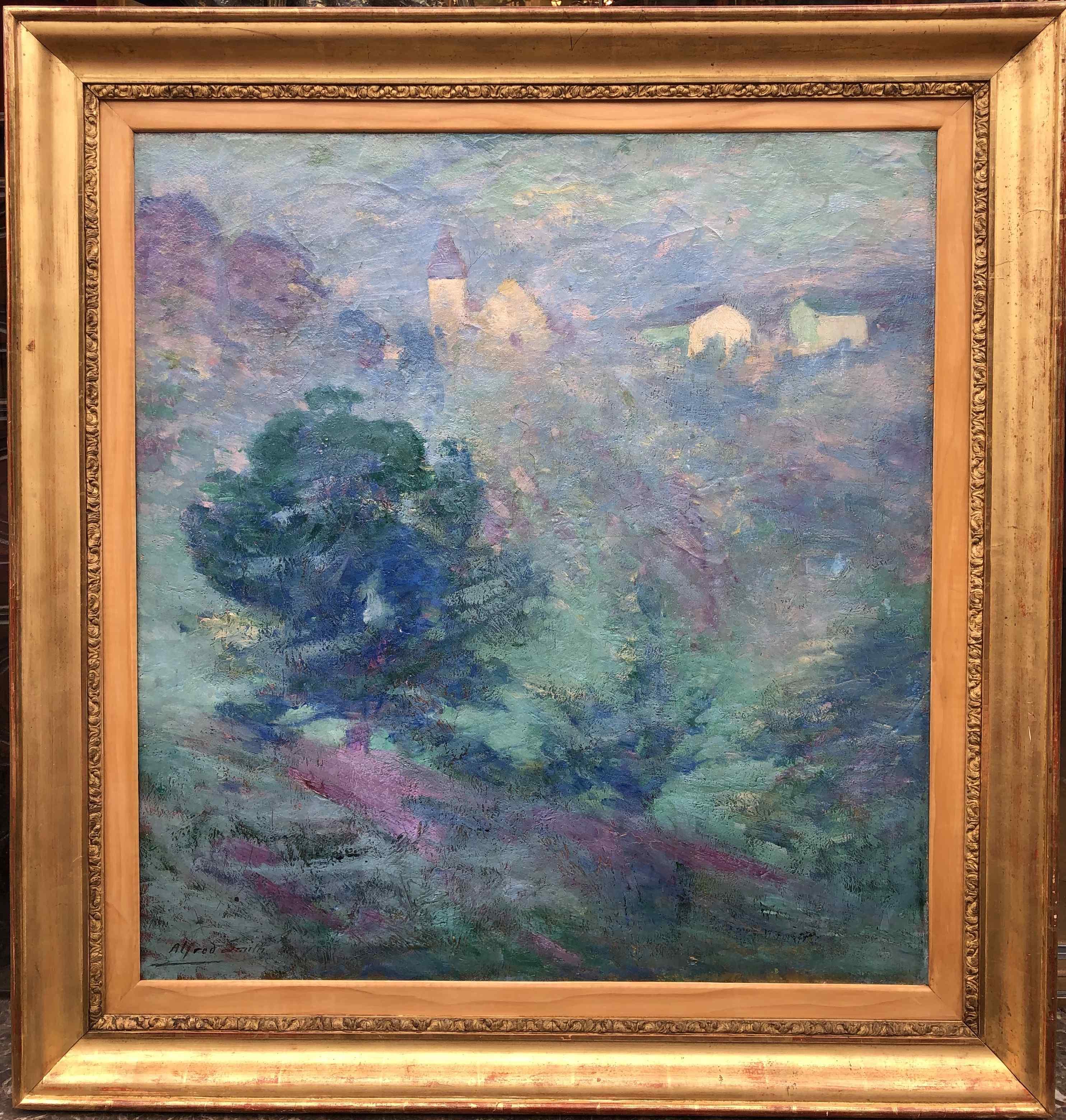 Paesaggio della Creuse Olio su tela firmato da Alfred Smith
