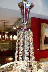 Lustre Fontaine Epoque Art Deco En Cristal De Baccarat-2